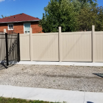 Vinyl Fence Brampton Privacy Fence With Aluminum Gate by Vinyl Fence Toronto