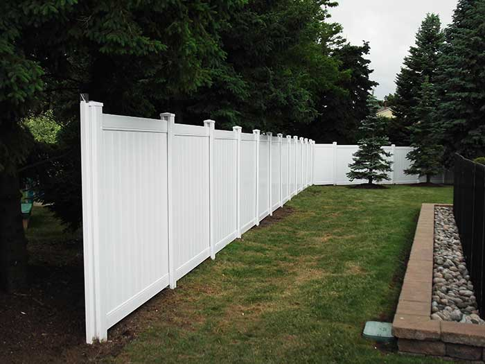 White Vinyl Fence Vertical Boards